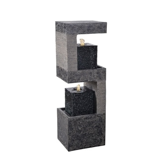 Ensley Black and Grey 35 Inch Height Floor Fountain