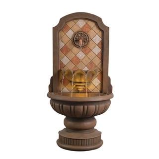 Zoe Travertine 43 Inch Height Floor Fountain