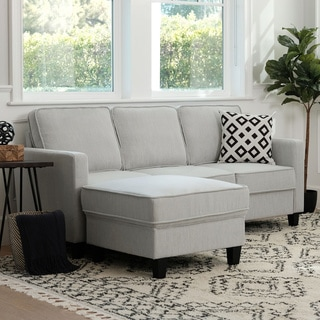 Link to Porch & Den Stoepel Fabric Sofa and Ottoman Set Similar Items in Living Room Furniture Sets