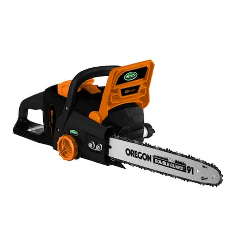 Scotts 16- Inch Lithium 62 Volt Chain Saw - Black/Orange
