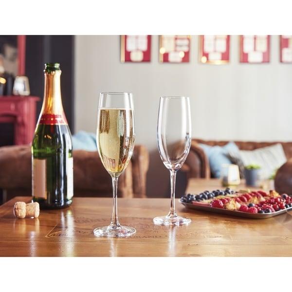 Chef & Sommelier Grand Vin Champagne Flute, 8 ounce, Set of 6 - 8 oz