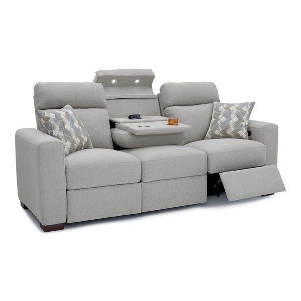 Seatcraft Capital Home Theater Seating Fabric Recline Sofa Adjule Ed Headrest Fold
