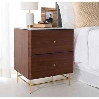 Safavieh Couture Channing 2 Drawer Nightstand - Natural / Gold