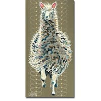Drama Llama by Stephanie Aguilar Gallery Wrapped Canvas Giclee Art (36 in x 18 in, Ready to Hang)