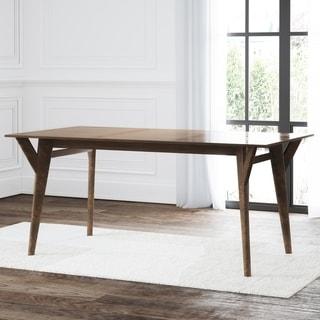 Abbyson Retro Mid Century Extendable Wooden Dining Table