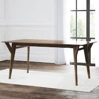 Abbyson Retro Mid Century Wooden Dining Table - Brown