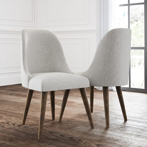 Abbyson Retro Upholstered Mid Century Dining Chair (Set of 2)