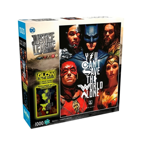 Justice League - You Can't Save the World Alone Glow-in-the-Dark Jigsaw  Puzzle: 1000 Pcs
