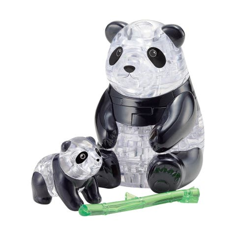 3D Crystal Puzzle - Panda and Baby: 50 Pcs