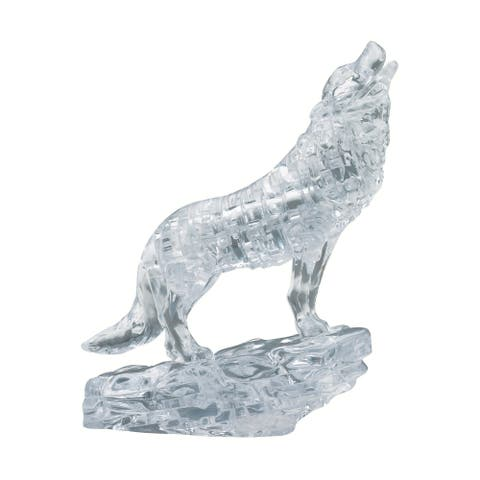 3D Crystal Puzzle - Wolf (Clear): 38 Pcs