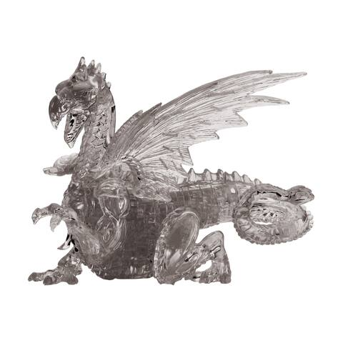 3D Crystal Puzzle - Dragon (Black): 56 Pcs
