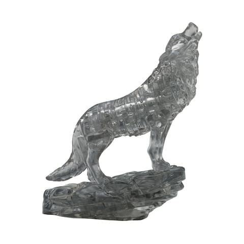 3D Crystal Puzzle - Wolf (Black): 38 Pcs