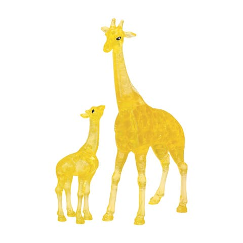 3D Crystal Puzzle - Giraffe and Baby: 38 Pcs