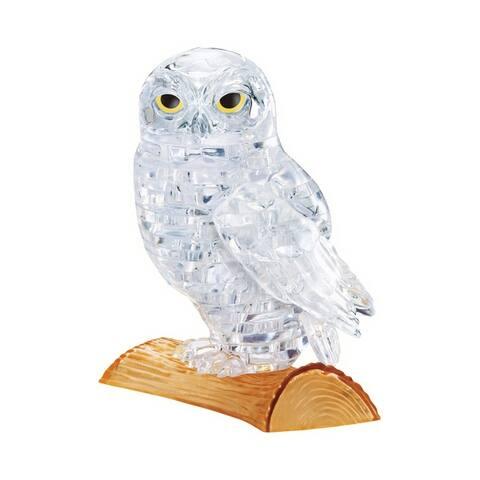 3D Crystal Puzzle - Owl (White): 42 Pcs