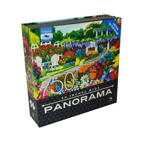 Premium Blue Board Panorama Jigsaw Puzzle - Nancy Wernersbach - Glorious Garden: 750 Pcs