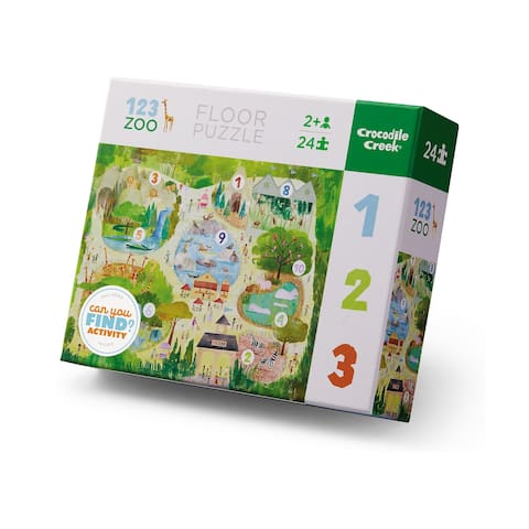 Early Learning - 123 Zoo Floor Puzzle: 24 Pcs