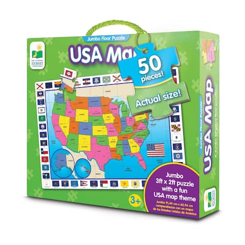 USA Map Jumbo Floor Puzzle: 50 Pcs