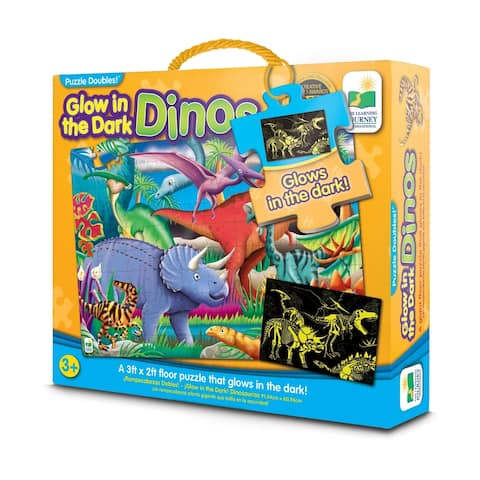 Puzzle Doubles! - Glow in the Dark Dinos: 100 Pcs