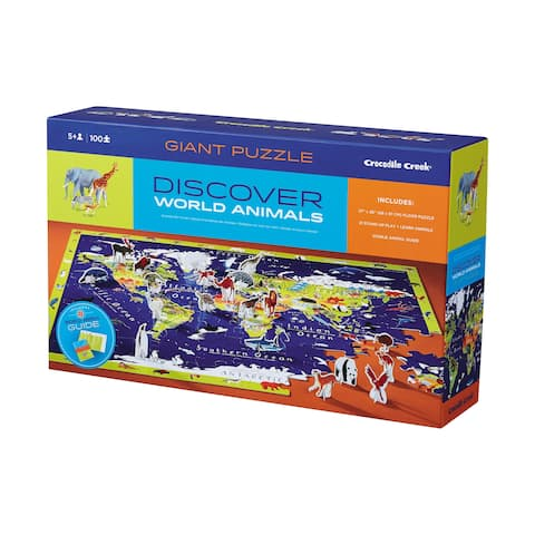 Discover the World Puzzle + Play Floor Puzzle: 100 Pcs