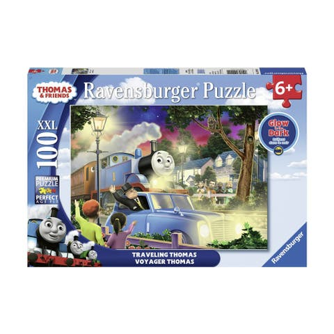 Thomas & Friends Glow in the Dark Puzzle - Traveling Thomas: 100 Pcs