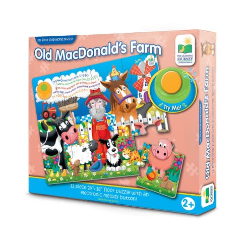 My First Sing-Along Puzzle - Old MacDonald's Farm: 12 Pcs