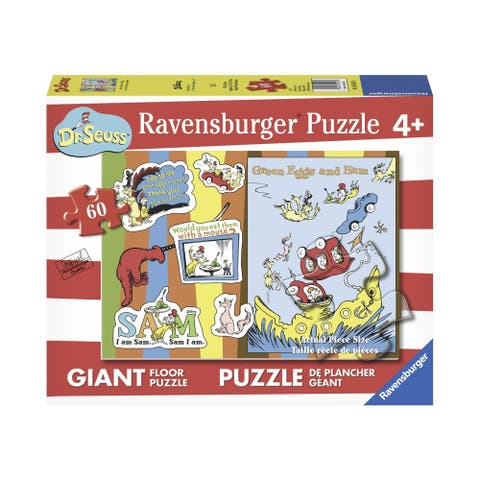 Dr. Seuss - Green Eggs and Ham Giant Floor Puzzle: 60 Pcs