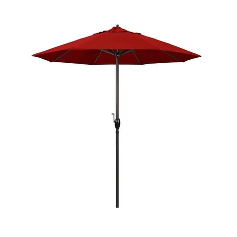North Bend 7.5 Crank Lift Auto Tilt Patio Umbrella, Sunbrella Fabric by Havenside Home