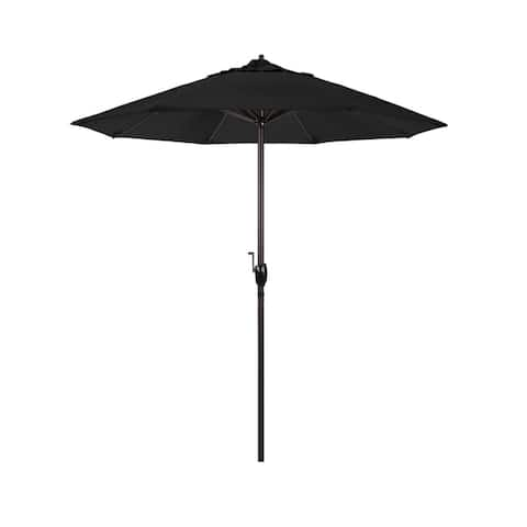 North Bend 7.5 Crank Lift Auto Tilt Patio Umbrella, Sunbrella Fabric by Havenside Home
