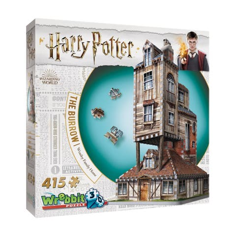 Harry Potter Collection - The Burrow - Weasley Family Home 3D Puzzle: 415 Pcs