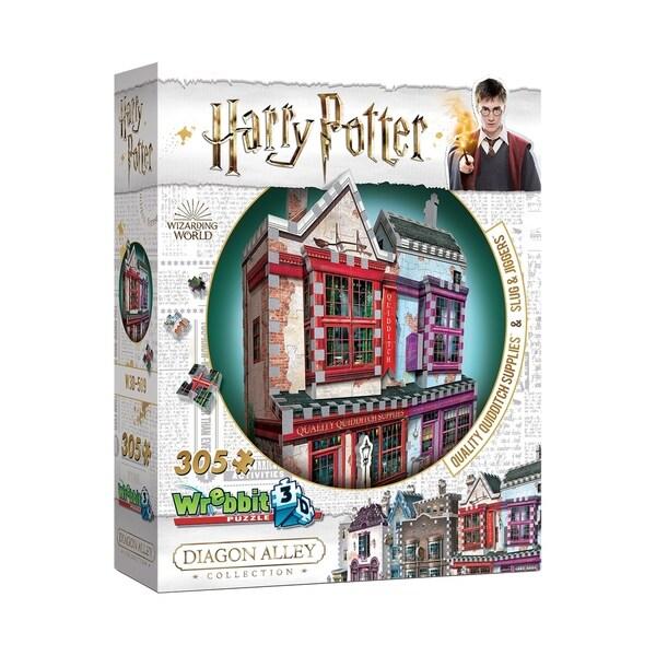 Harry Potter Daigon Alley Collection - Quality Quidditch Supplies & Slugs & Jiggers 3D Puzzle: 305 Pcs