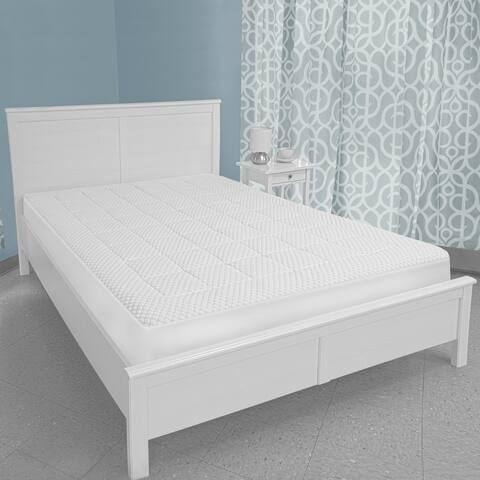 SwissLux Memory Foam and Fiber Washable Mattress Pad