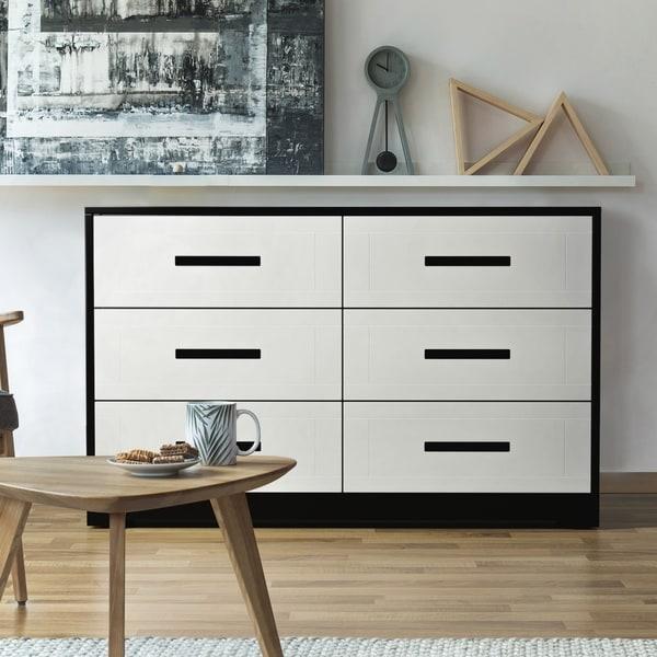 . Shop Furniture of America Seleness Contemporary Two tone Black White