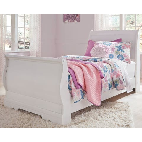 . Buy Queen Size Sleigh Bed  White Online at Overstock   Our Best