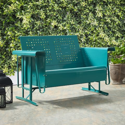 Bates Loveseat Glider in Turquoise