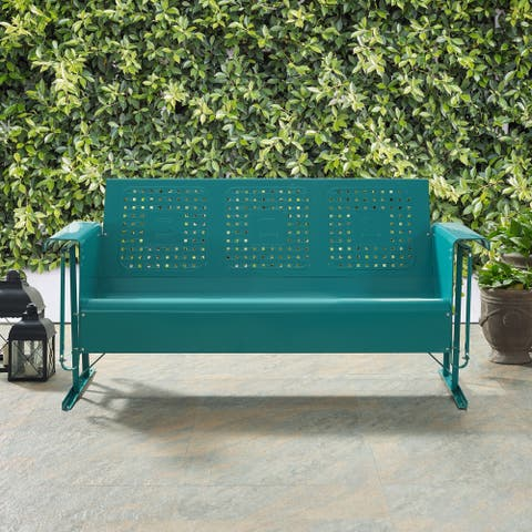 Bates Sofa Glider In Turquoise