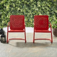 Bates Chair in Red (Set of 2)