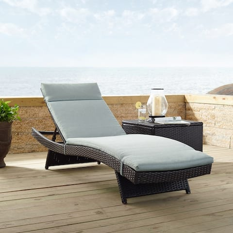 Biscayne Chaise Lounge With Mist Cushion - 79 W x 25.75 D x 35 H