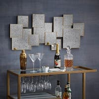 Neville Brass Finish Multi Square Antiqued Mirror Wall Decor by iNSPIRE Q Artisan
