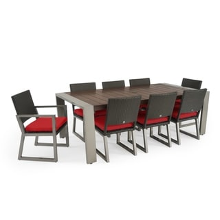 Milo 9pc Espresso Dining Set in Sunset Red by RST Brands