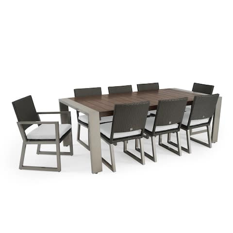 Milo 9pc Espresso Dining Set in Moroccan Cream by RST Brands