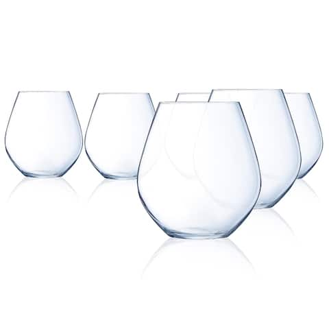 Chef & Sommelier Domaine Stemless Red Wine Glass, 19.5 ounce, Set of 6 - 19.5 oz