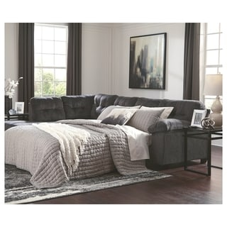 Accrington 2-Piece Sleeper Sectional with Left Facing Chaise - Granite