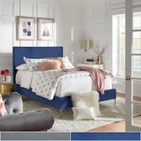Tre Solid Velvet Panel Bed by iNSPIRE Q Modern