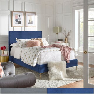 Tre Solid Velvet Panel Bed by iNSPIRE Q Bold
