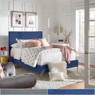 Tre Solid Velvet Panel Bed by iNSPIRE Q Modern