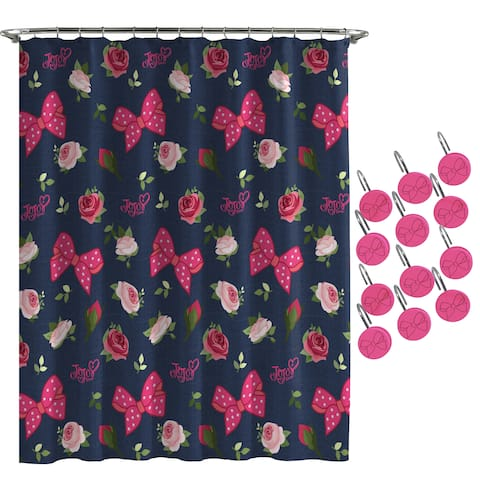 JoJo Siwa Roses and Bow Shower Curtain and Hooks