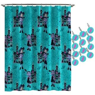 Disney Junior Vamperina Shower Curtain and Hooks