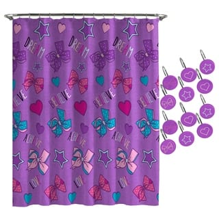 JoJo Siwa Dream Believe Shower Curtain and Hooks