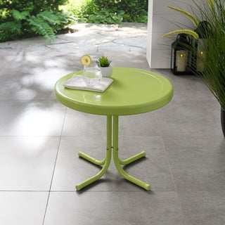 Retro Metal Side Table In Key Lime