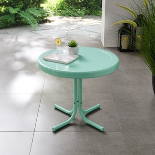 Link to Retro Metal Side Table In Aqua Similar Items in Outdoor Coffee & Side Tables